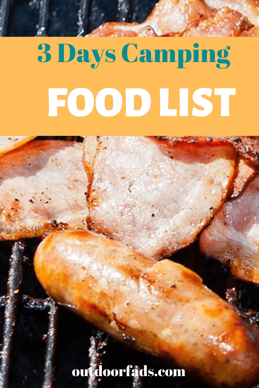 Camping food list for 3 days