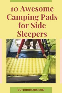 Top 10 Best Camping Pads for Side Sleepers