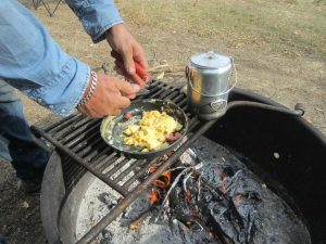 Campfire Scrambled Eggs