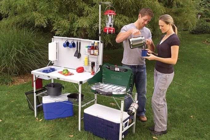 Get an Actual Camping Kitchen to Stay Organised